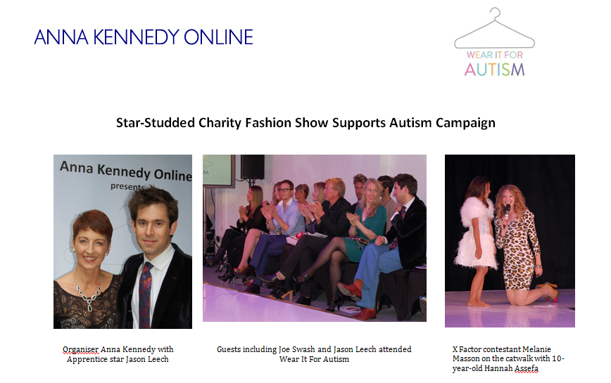Star-Studded Charity Fashion Show Supports Autism Campaign