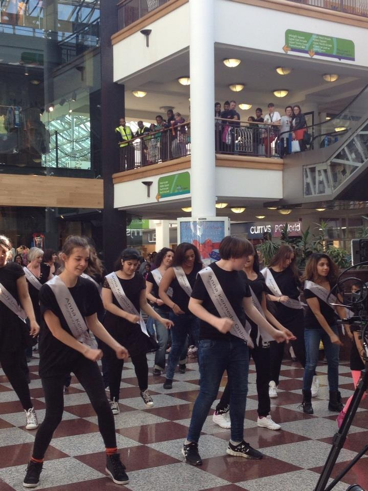 Cutting edge Flash Mob dances for autism awareness month in Croydon town centre