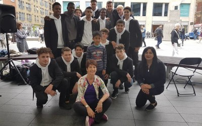 Autism Flash Mob trio gives London a shocker during Big Dance week 2016
