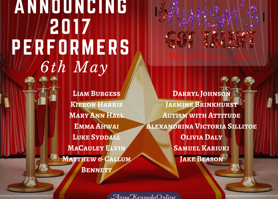 Autism's Got Talent 2017 Performers Announced