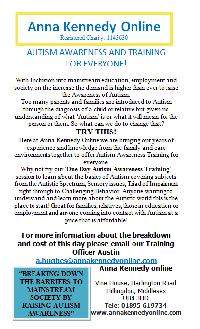 Autism Awareness and Training for everyone