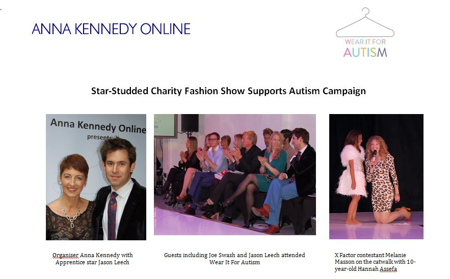 We strutted, posed and wore it for Autism!