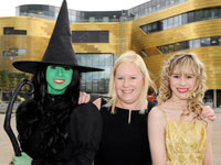 Ashton performing as Elphaba and Madison as Glinda, with Katy Carmen from Daisy Chain