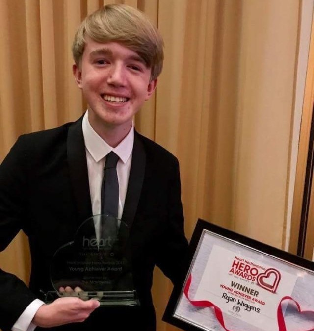 Local youngster Ryan Wiggins scoops Young Achievers Award