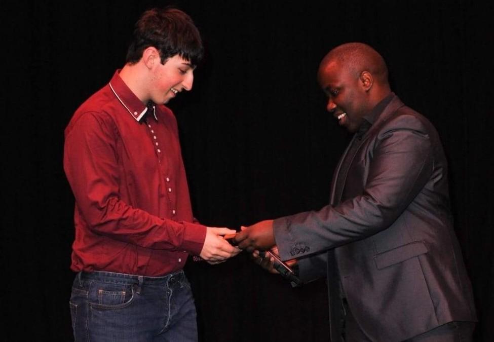 Liam Burgess wins film camera as he scoops MMBF Anna Kennedy Award