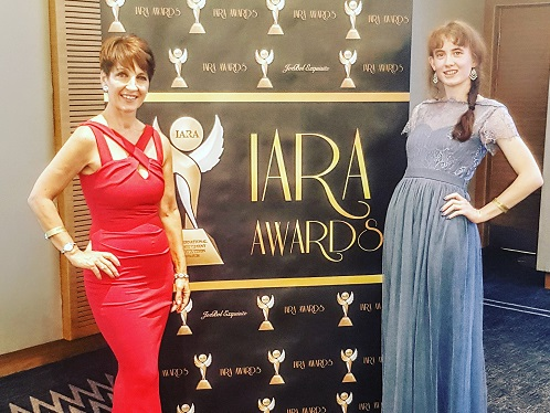 Marie Gorton receives a standing ovation at The Hilton – IARA Awards