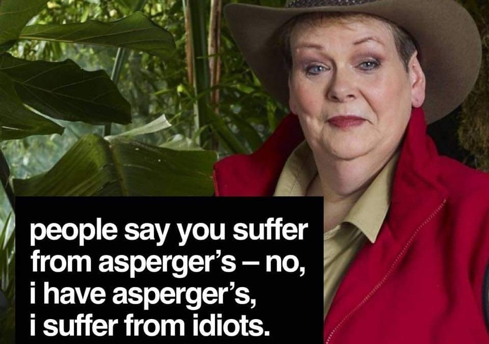 Anna Kennedy Online are rooting for Anne Hegerty for raising Autism awareness on I'm A Celebrity Get Me Out Of Here!