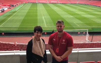 The Arsenal FC sensory room opens its doors to Anna Kennedy OBE