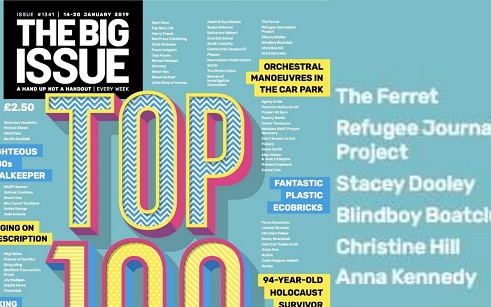 """Anna Kennedy selected as one of """"The Big Issue"""" Top 100 Changemakers!"""